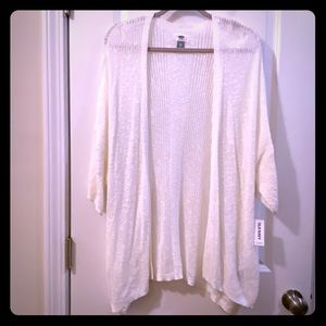 Off white knit cardigan